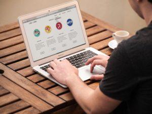 Marketer using a Macbook, Digital Marketing Agency Essex