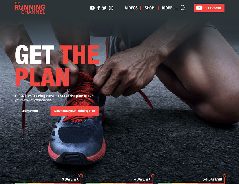 The Running Channel Get The Plan Trainer Image