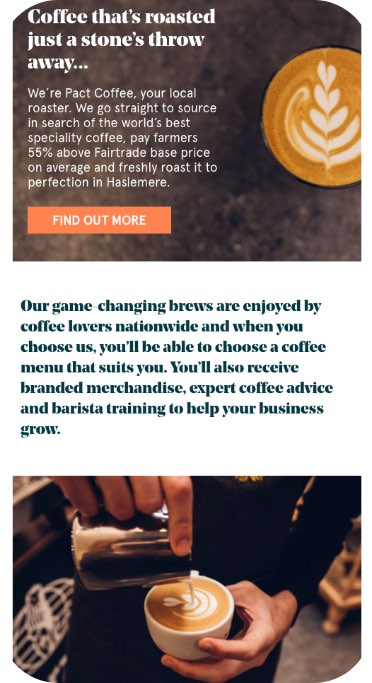 Pact Coffee For Business Website Smart Phone